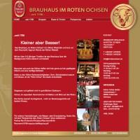 Brauhaus im roten Ochsen - Website